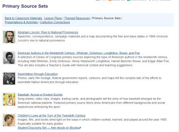 primary source sets